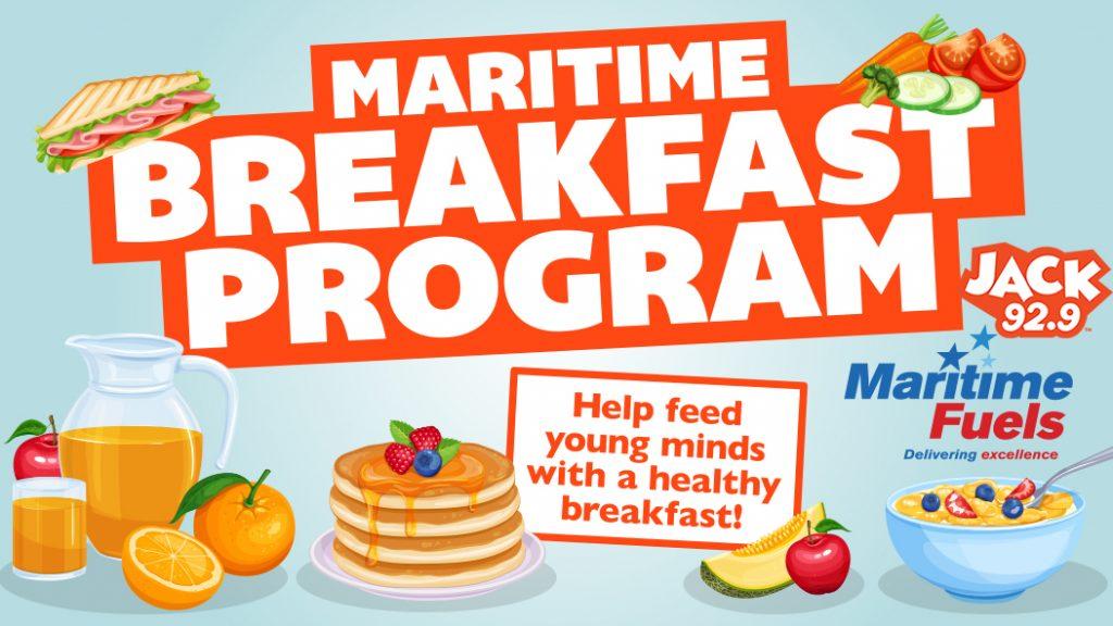 Promotional avdertisment for the breakfast program Maritime Fuels and Jack 92.9